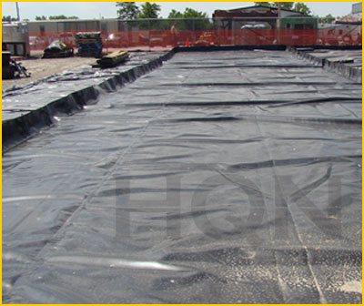secondary containment berms from HQN.ca used for frac tanks, decontamination, and to prevent accidental acid spills in Canada